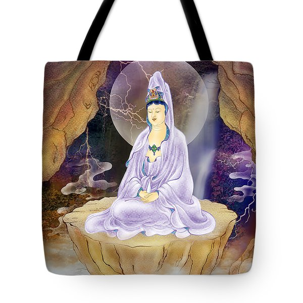 Rock Cave Avalokitesvara  Tote Bag by Lanjee Chee