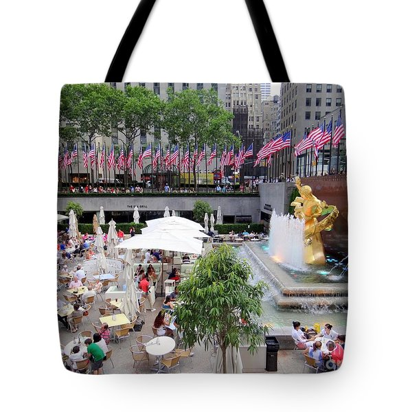 Rock Center Fourth Tote Bag by Ed Weidman