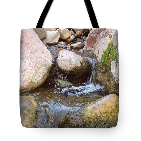 Tote Bag featuring the photograph Rock Creek by Kerri Mortenson