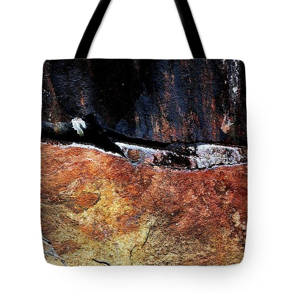 Rock Design Tote Bag by Randy Pollard