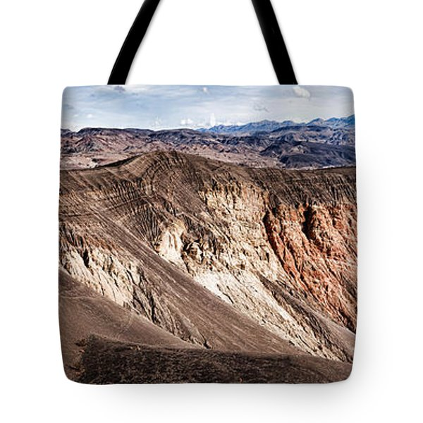 Rock Formations At Volcanic Crater Tote Bag