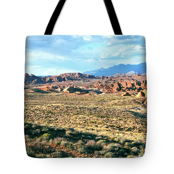 Rock Formations In A Desert, Valley Tote Bag
