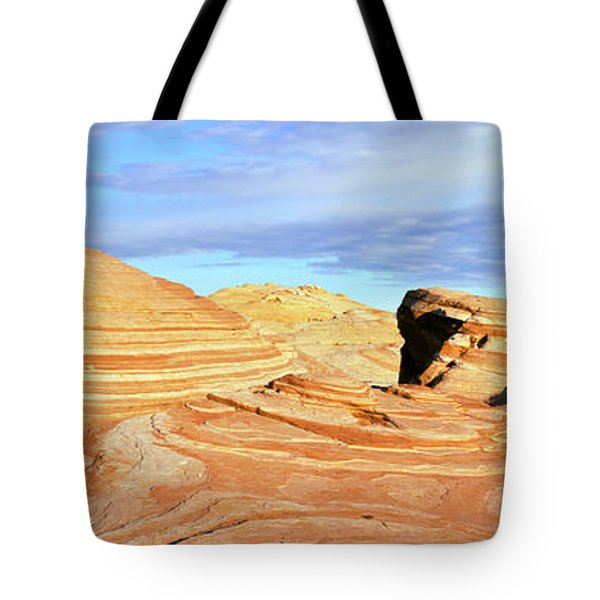 Rock Formations In A Valley, Valley Tote Bag