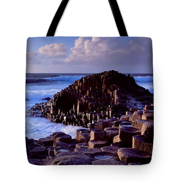 Rock Formations On The Coast, Giants Tote Bag by Panoramic Images