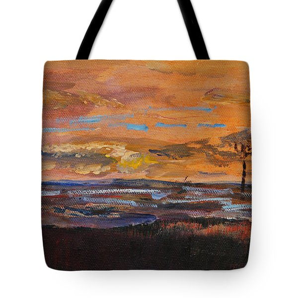 Rock Harbor Sunset Tote Bag