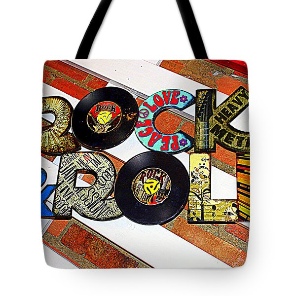 Rock N Roll Is Here To Stay Tote Bag