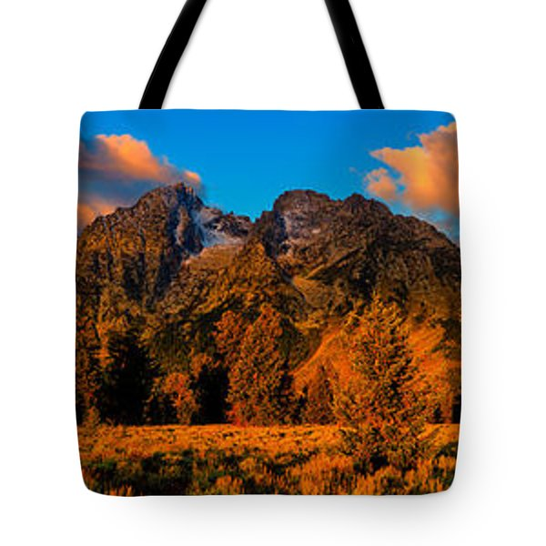 Tote Bag featuring the photograph Rock Of Ages Panorama by Greg Norrell