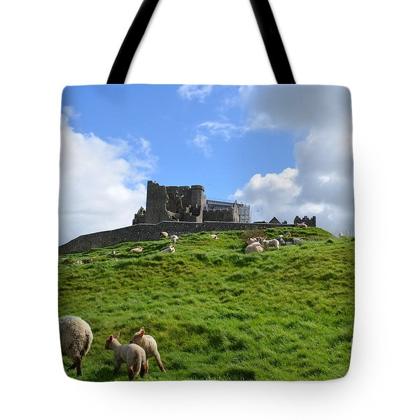 Rock Of Cashel In The Distance Tote Bag