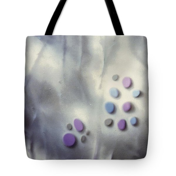 Rock Painting Lavender And Gray With Twigs Tote Bag