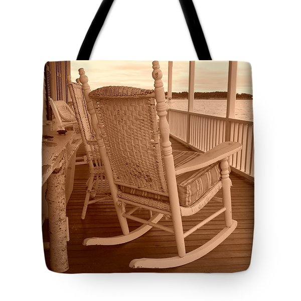Rock The Day Away Tote Bag by Jean Goodwin Brooks