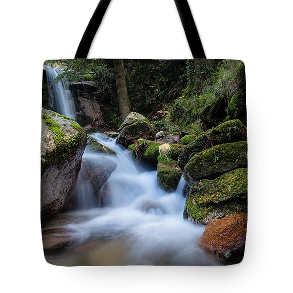 Tote Bag featuring the photograph Rock To Rock Down by Edgar Laureano