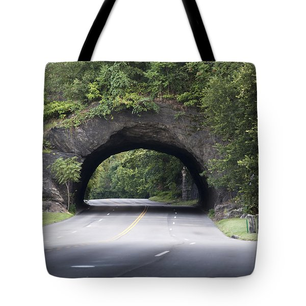 Rock Tunnel On Kelly Drive Tote Bag by Bill Cannon