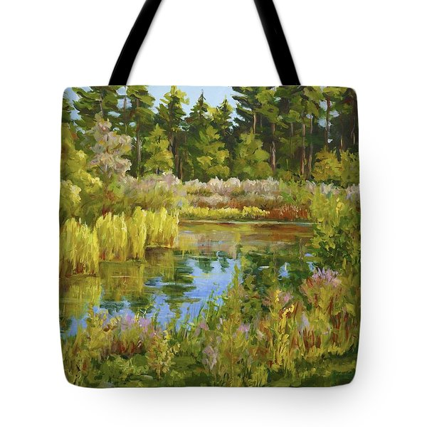Rock Valley Pond Rockford Il Tote Bag by Alexandra Maria Ethlyn Cheshire