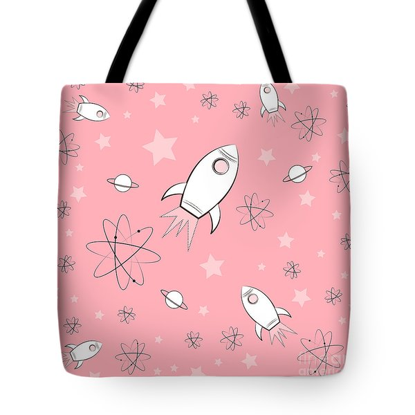 Rocket Science Pink Tote Bag