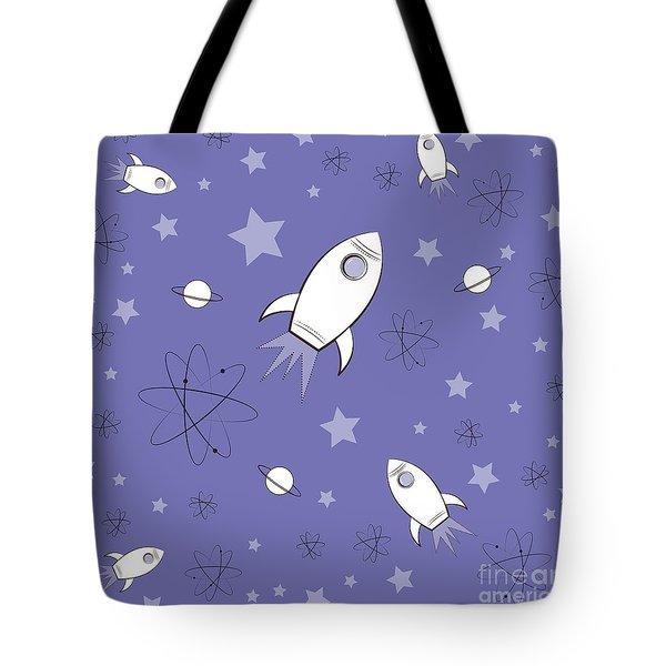 Rocket Science Purple Tote Bag by Amy Kirkpatrick