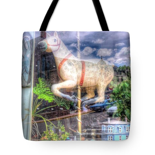 Tote Bag featuring the photograph Rockey's Horse by Lanita Williams