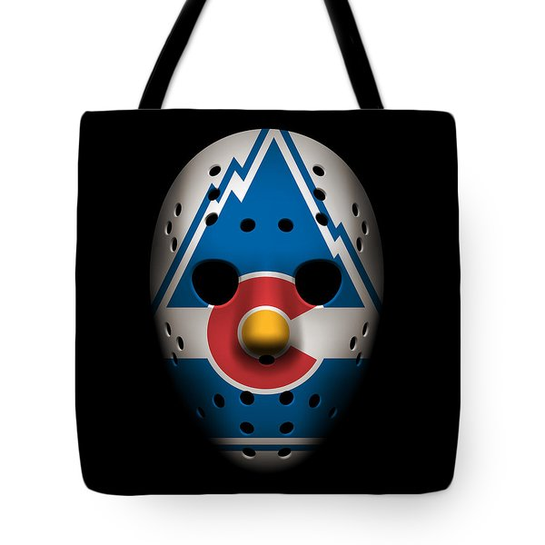 Rockies Goalie Mask Tote Bag