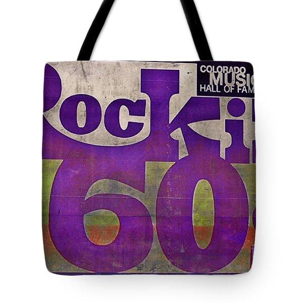 Rocking Sixties Music Tote Bag by Janice Rae Pariza