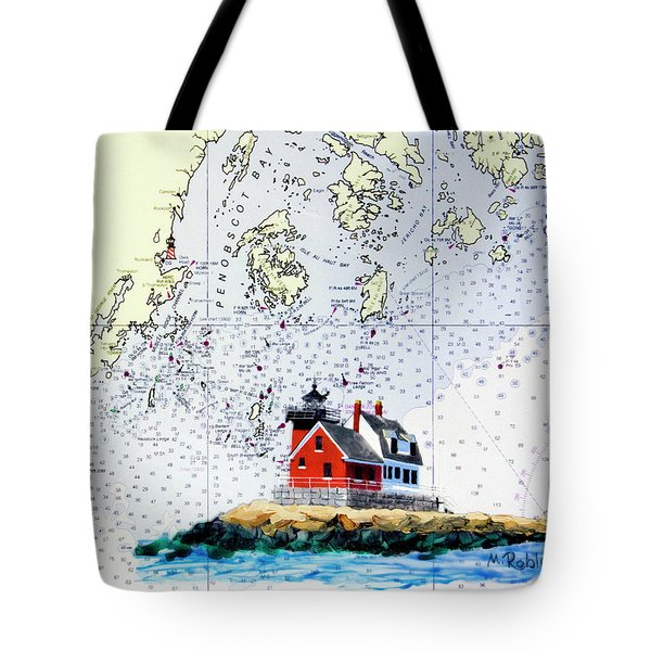 Rockland Breakwater Light Tote Bag by Mike Robles