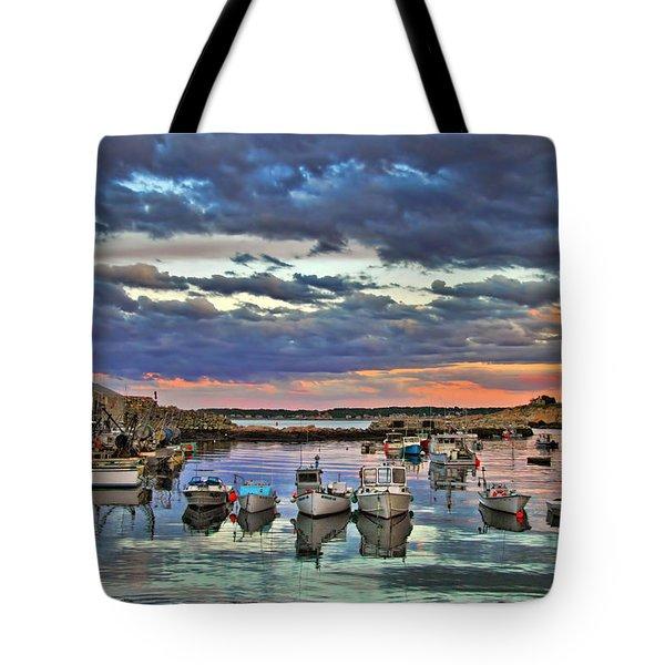 Rockport Dusk Tote Bag by Joann Vitali