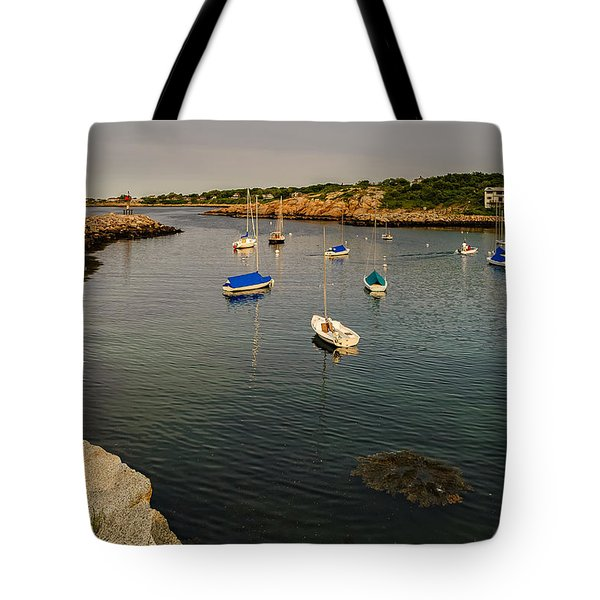 Tote Bag featuring the photograph Rockport Gold by Mark Myhaver