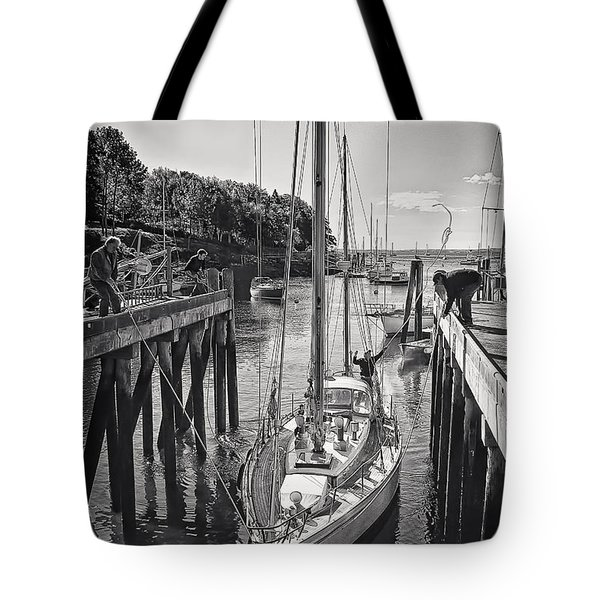 Rockport Harbor Tote Bag by Priscilla Burgers