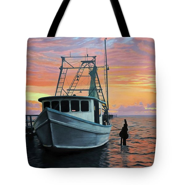 Rockport Sunrise Tote Bag by Jimmie Bartlett