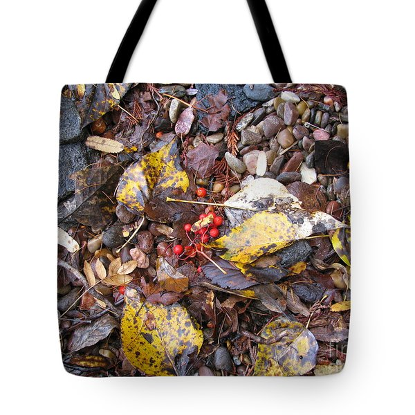 Rocks And Berries Tote Bag by Leone Lund