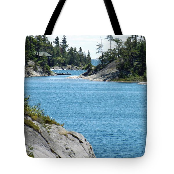 Rocks And Water Paradise Tote Bag