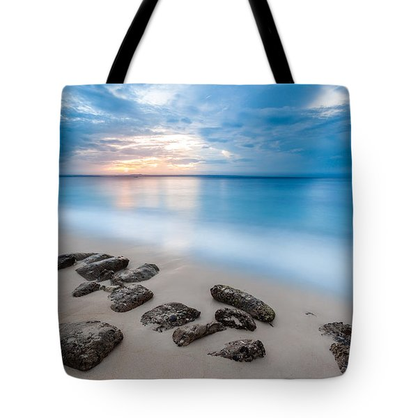 Tote Bag featuring the photograph Rocks By The Sea by Mihai Andritoiu