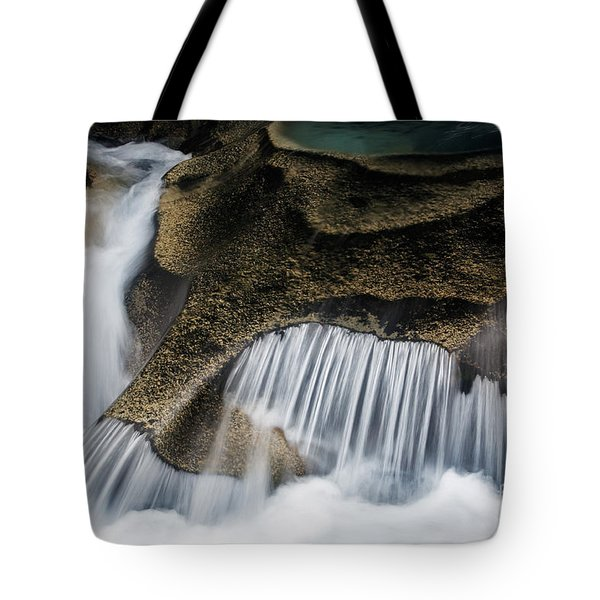 Rocks In Paradise Tote Bag by Inge Johnsson