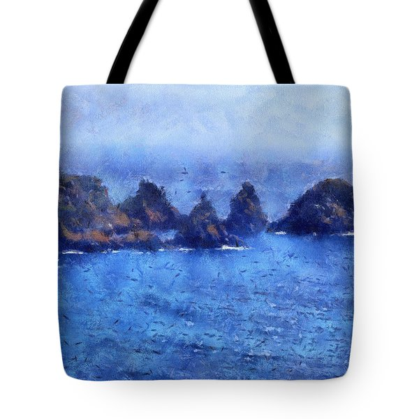 Rocks On Isle Of Guernsey Tote Bag