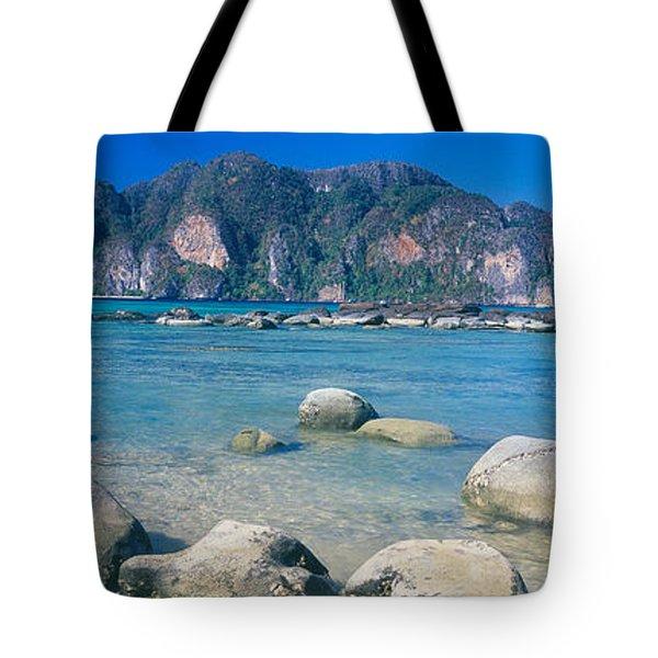 Rocks On The Coast, Phi Phi Islands Tote Bag