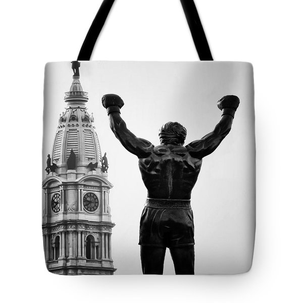 Rocky And Philadelphia Tote Bag by Bill Cannon
