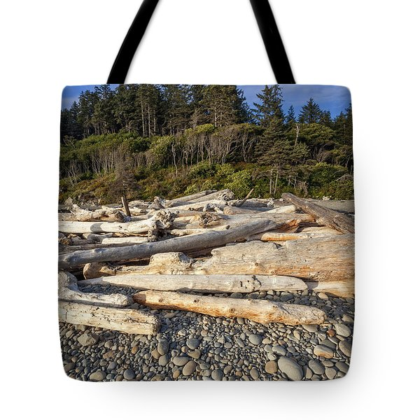 Rocky Beach And Driftwood Tote Bag