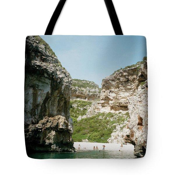 Rocky Beach In Croatia Tote Bag