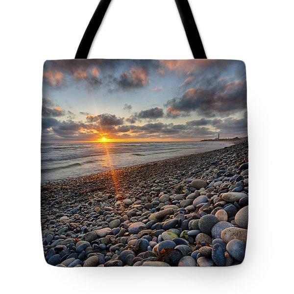 Rocky Coast Sunset Tote Bag