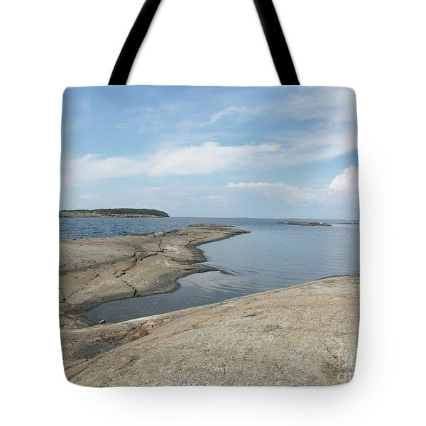 Rocky Coastline In Hamina Tote Bag