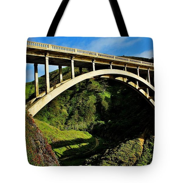 Rocky Creek Bridge Tote Bag by Benjamin Yeager