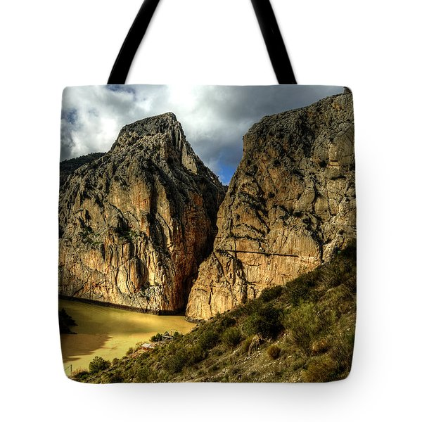 Tote Bag featuring the photograph Rocky El Chorro In Andalusia by Julis Simo