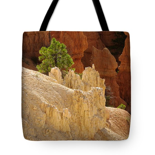 Tote Bag featuring the photograph Rocky Embrace by Meghan at FireBonnet Art