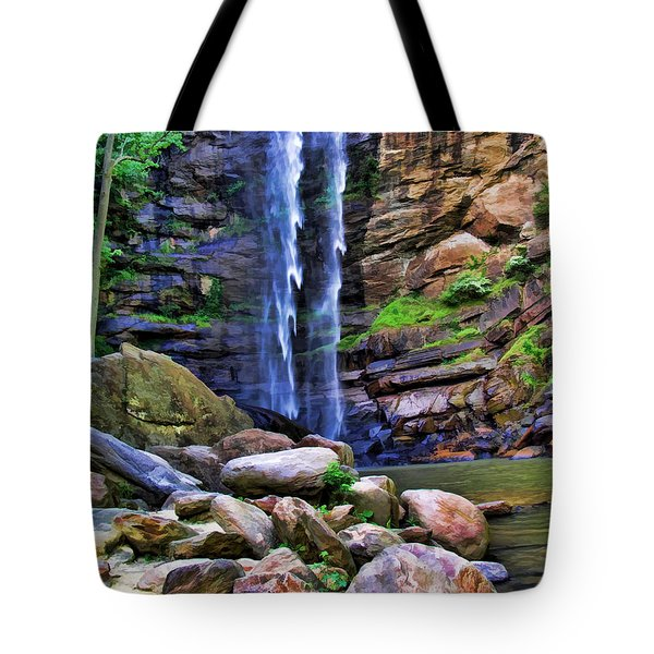 Tote Bag featuring the photograph Rocky Falls by Kenny Francis