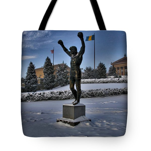 Rocky In The Snow Tote Bag