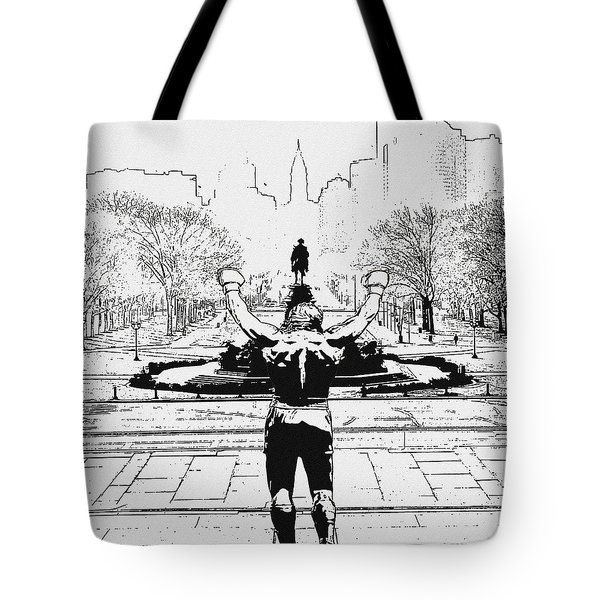 Rocky Is Philadelphia Tote Bag by Bill Cannon