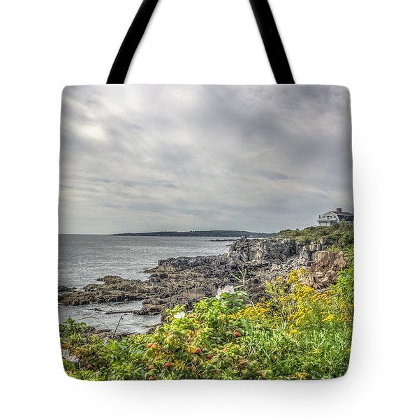 Tote Bag featuring the photograph Rocky Maine Shoreline by Jane Luxton