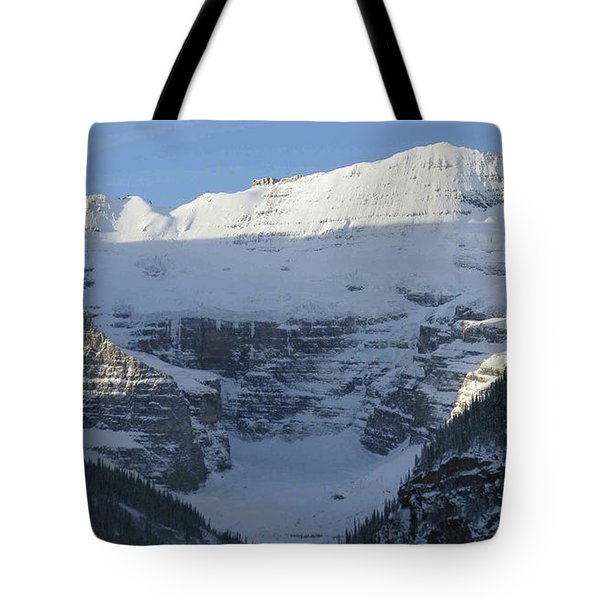 Rocky Mountain Blue Tote Bag by Cheryl Miller