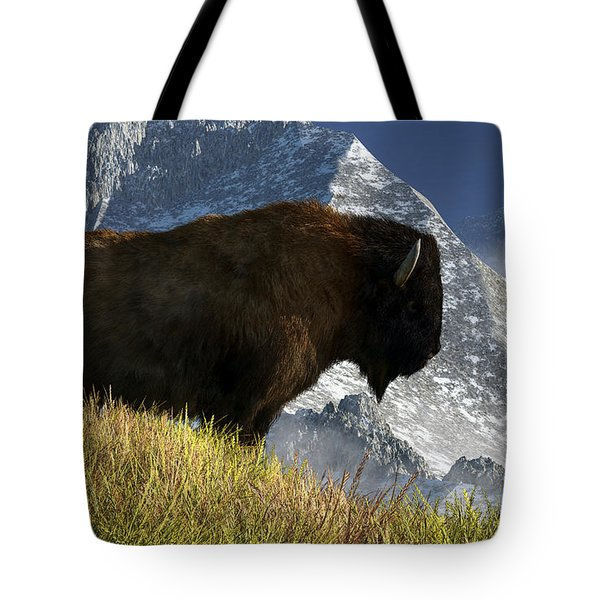 Rocky Mountain Buffalo Tote Bag