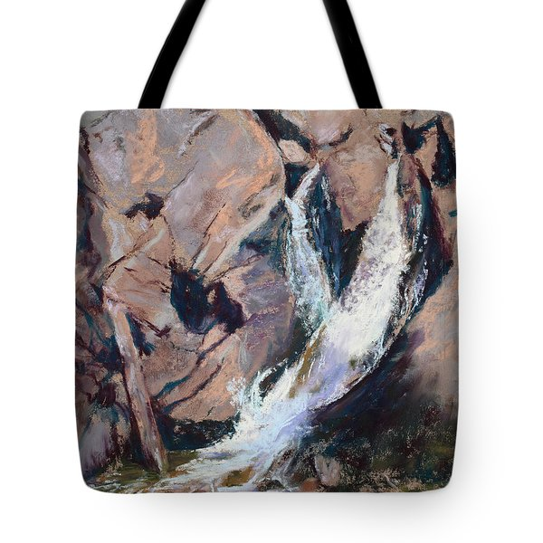 Rocky Mountain Cascade Tote Bag