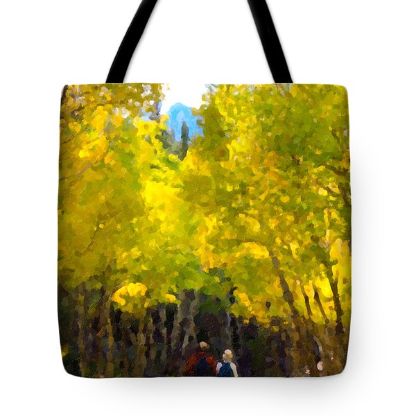 Rocky Mountain Hike Tote Bag by Karen Lee Ensley