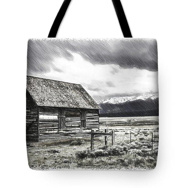 Rocky Mountain Past Tote Bag by John Haldane